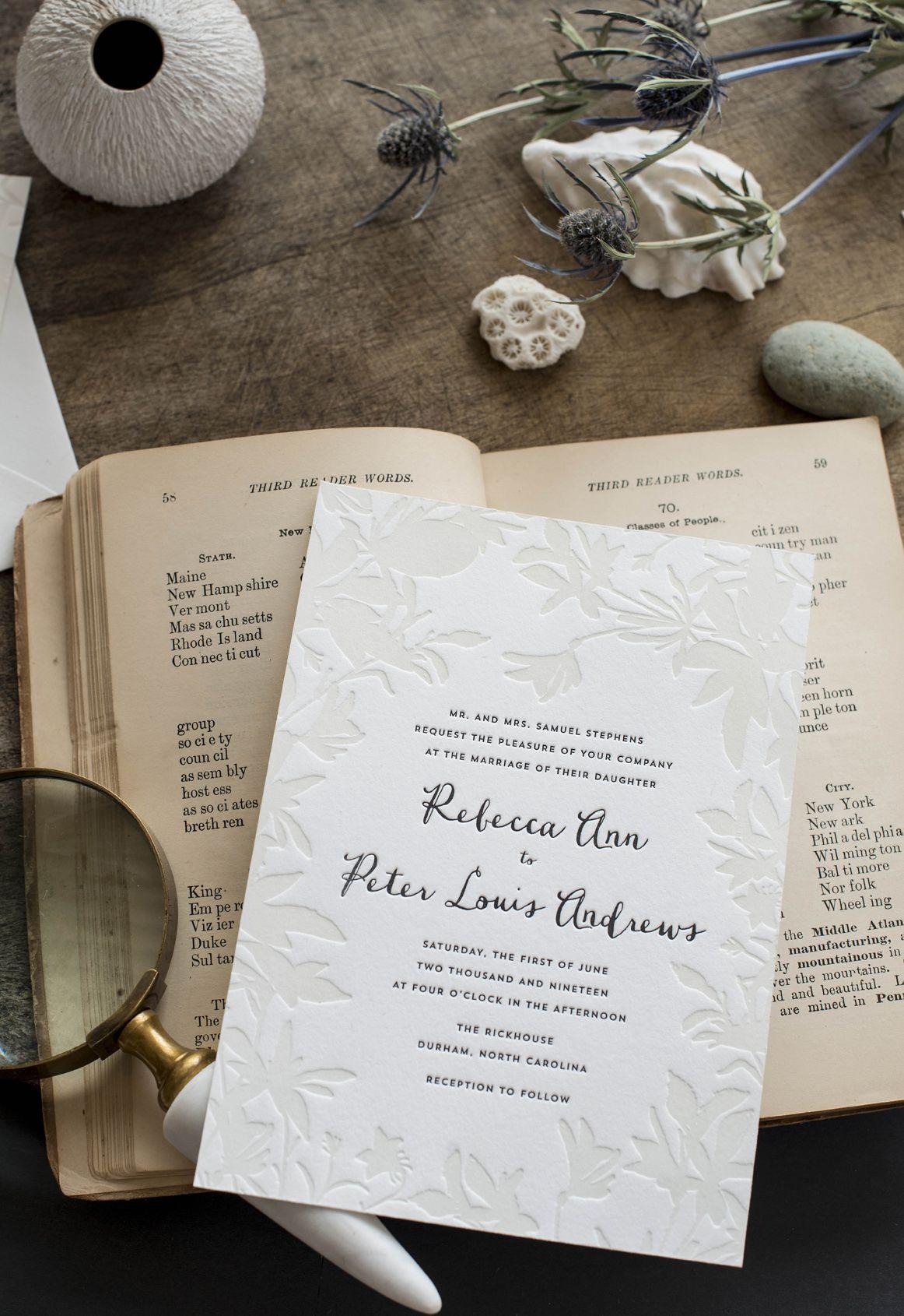 these letterpress wedding invitations are perfect for destination ...