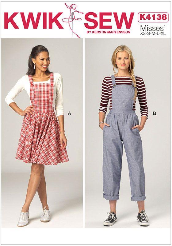 Misses Jumper and Jumpsuit Kwik Sew Sewing Pattern 4138. XS-XL ...