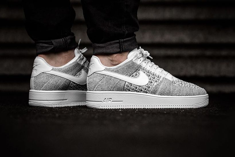 "Nike Air Force 1 Ultra Flyknit Low Takes on A ""Cool Grey"" Makeover for  Spring"