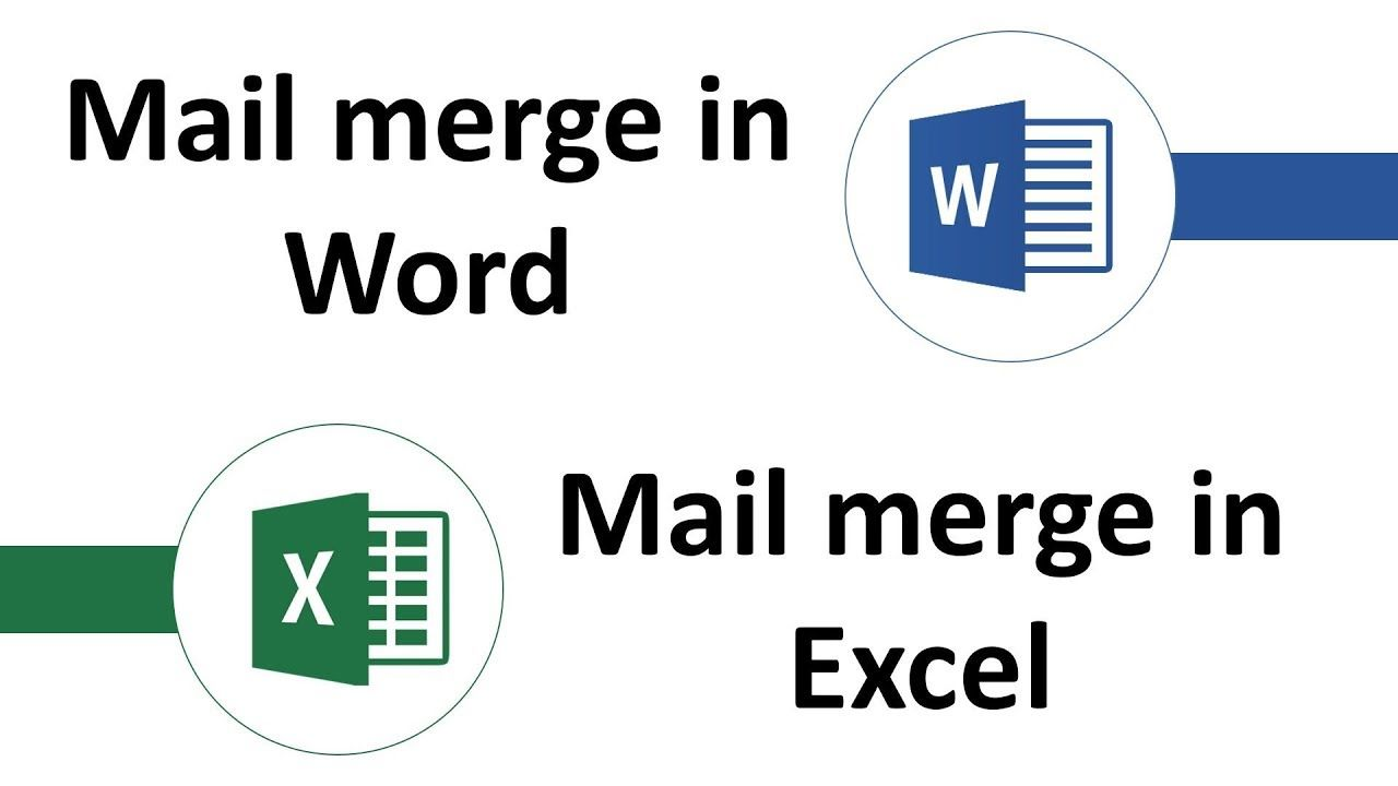 Mail Merge In Word Mail Merge In Excel God Mode Trick Mail Merge Words Word Practice