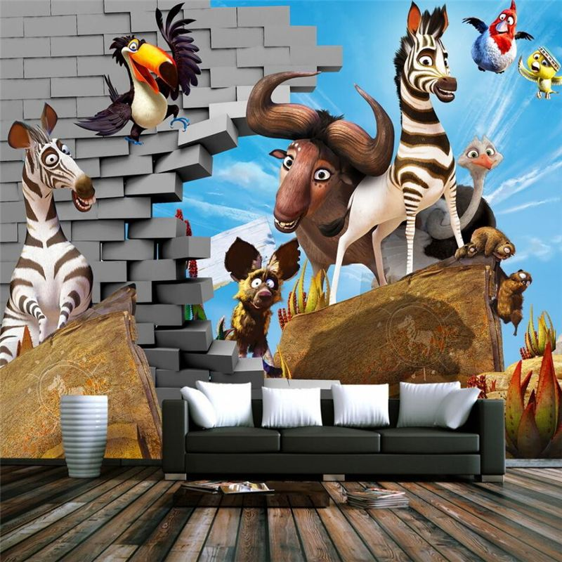 beibehang wallpaper for walls 3 d Custom photo 3D murals wall stickers three - dimensional cartoon children 's room backdrop #Affiliate