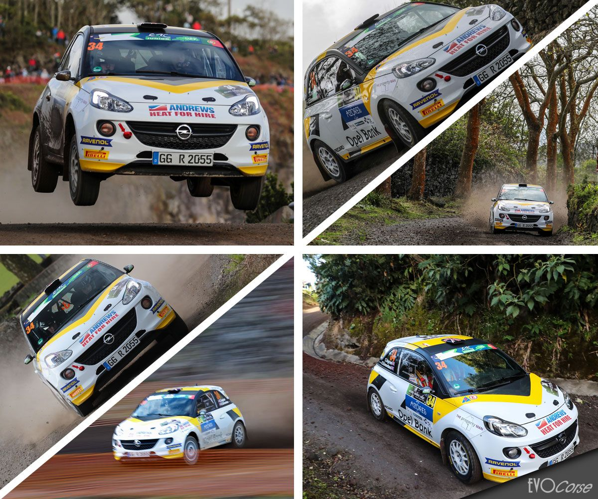 And the winner is Chris Ingram at Rally Azores 2017 | EVO Corse Racing Wheels #evocorsewheels #sanremocorsewheels #opeladam #collage #chrisingram #rally #rallyazores #followus