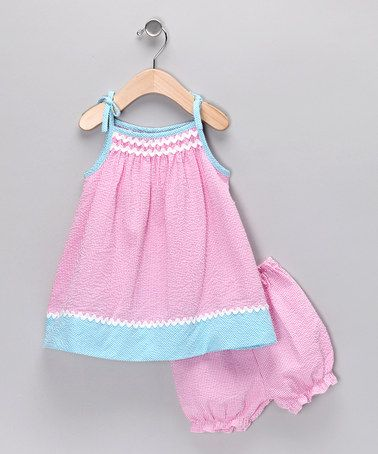Take a look at this Bubblegum Smocked Dress - Infant & Toddler by Petit Pomme on #zulily today!