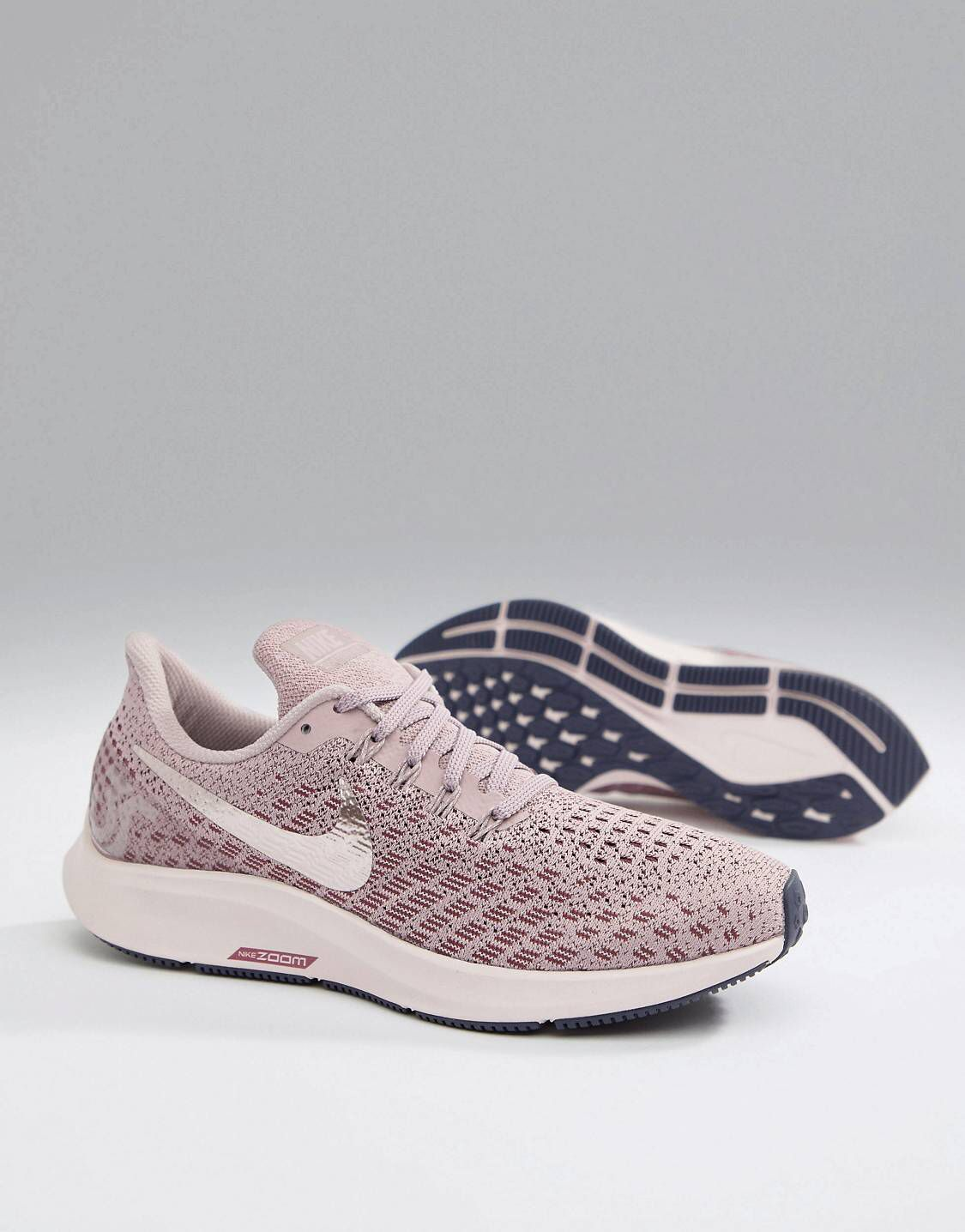 new style 0a620 af9a7 Nike Running Air Zoom Pegasus 35 Trainers Rose With Metallic ...