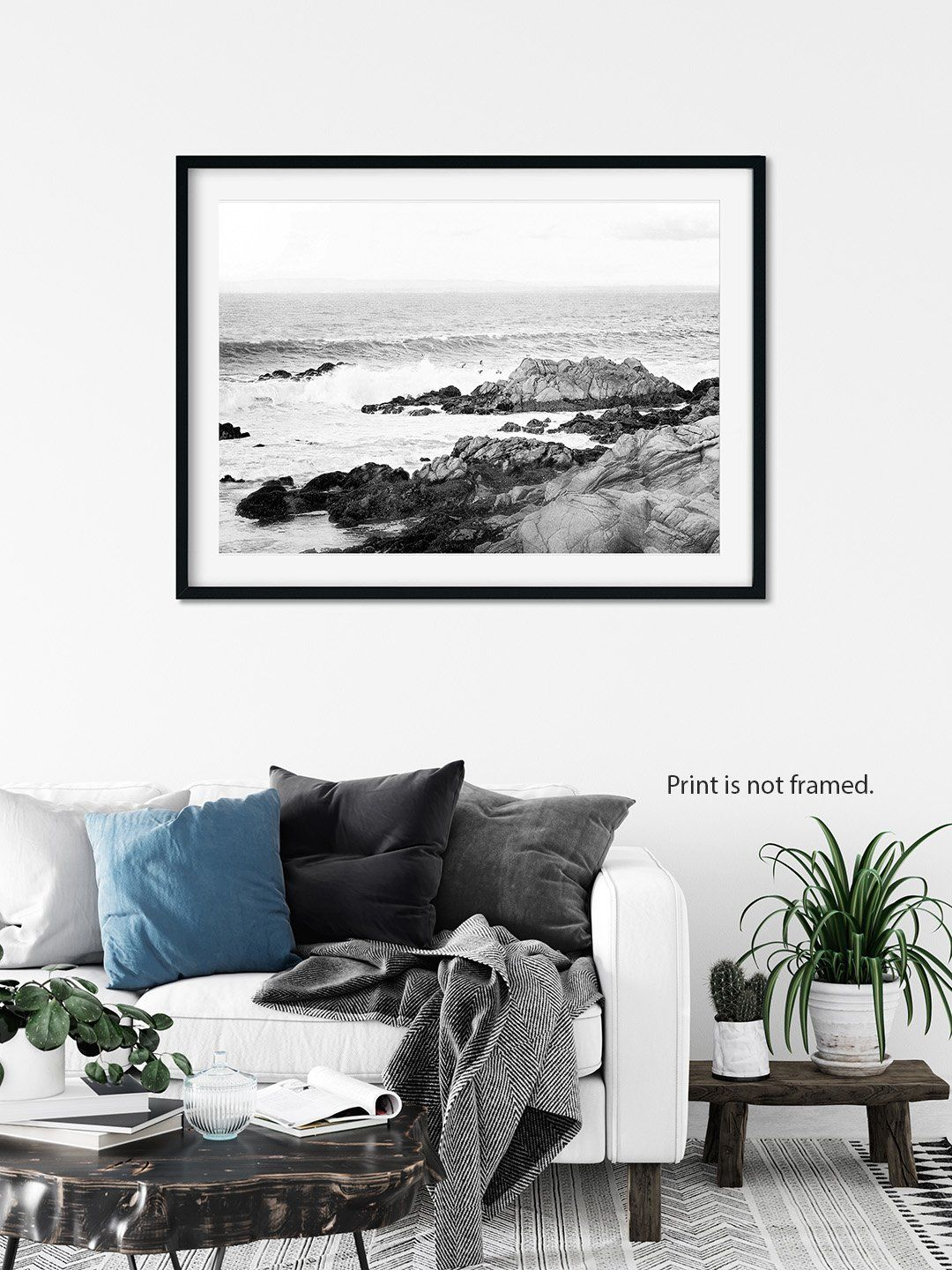 Rocky Shores Black And White Coastal Wall Art For Your Beach Decorart Print 20x30 In 2021 Coastal Wall Art Coastal Farmhouse Decor Black And White Beach