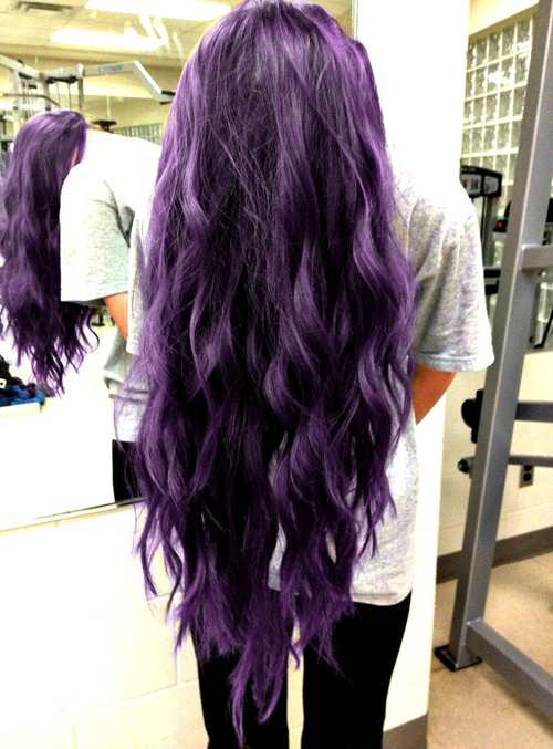 long wavy purple hair ... once again, after I'm no longer employed by the federal government.