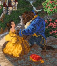 New Beauty And The Beast Latch Hook Rug Kit Finished