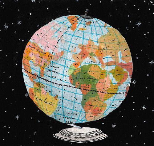 Globe by becca stadtlander globe illustrations and printing globe by becca stadtlander globe artmap gumiabroncs Images