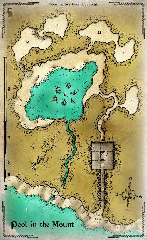 Hidden caves in northern Andrast