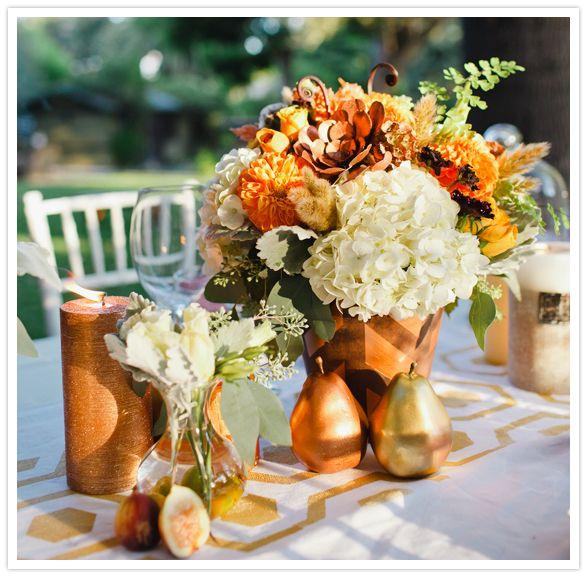 Orange Flower Arrangements For Weddings: Pretty Fall Centerpiece Mileu Designs Arranged Gorgeous