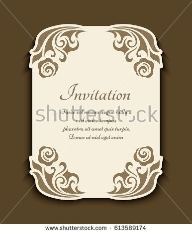 Vintage Gold Rectangle Frame With Floral Corner Decoration And   Paper  Border Designs Templates  Paper Border Designs Templates