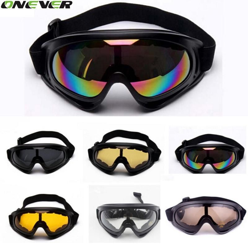 e16497951e UV400 Windproof Snowmobile Bicycle Motorcycle ATV Dirt Bike Off Road Racing X400  Goggles Motorcycle Glasses For Outdoor Riding