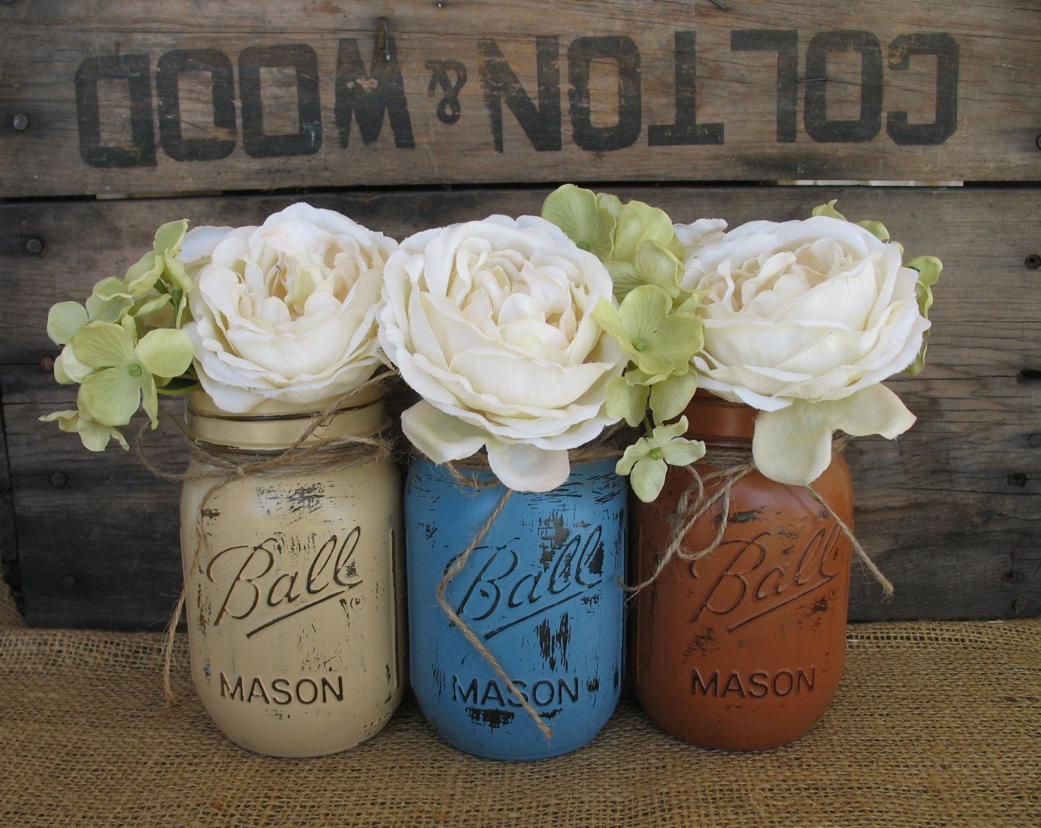 Mason Jar Wedding Centerpieces | Rustic Wedding Centerpieces Mason Jars