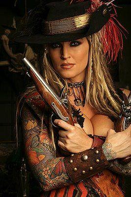 Janine Pirate Wench Inked Girls Bellisima Girls Twitter Guns Fatale