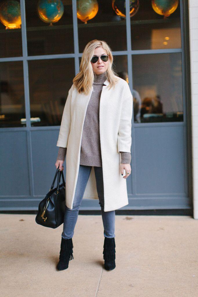 Winter White Coat | Winter, Winter wardrobe and Street styles