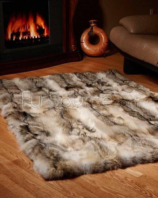 Real Coyote Fur Rug