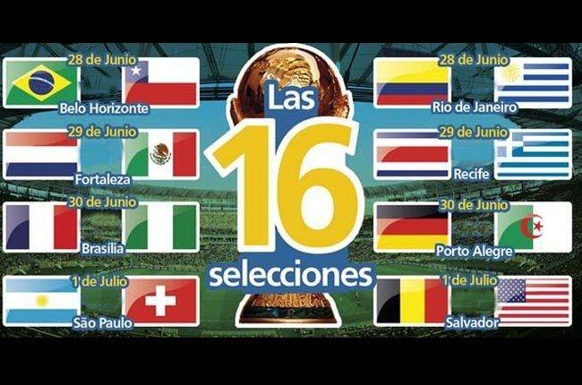 Luego de disputarse los últimos partidos de la fase de grupos del mundial Brasil 2014 este jueves, quedaron definidas las llaves de los octavos de final que se empezarán a disputar desde el próximo sábado