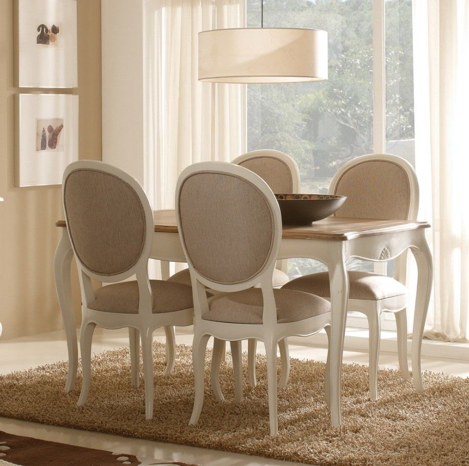 mesa de comedor extensible vintage blanca maison vintage