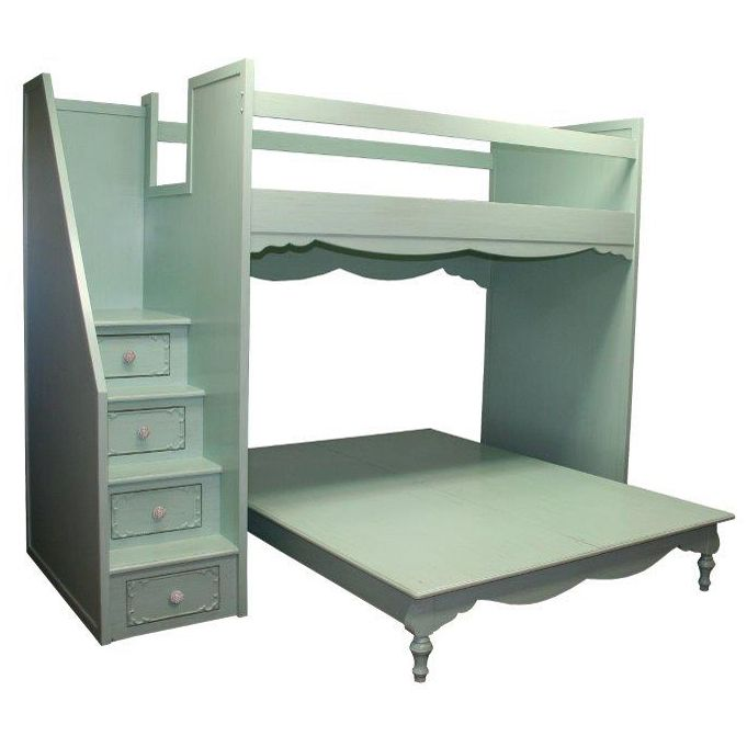The Simply Elegant Fantasy Full Over Queen Bunk Bed From Country Cottage Gives Your Little Girl