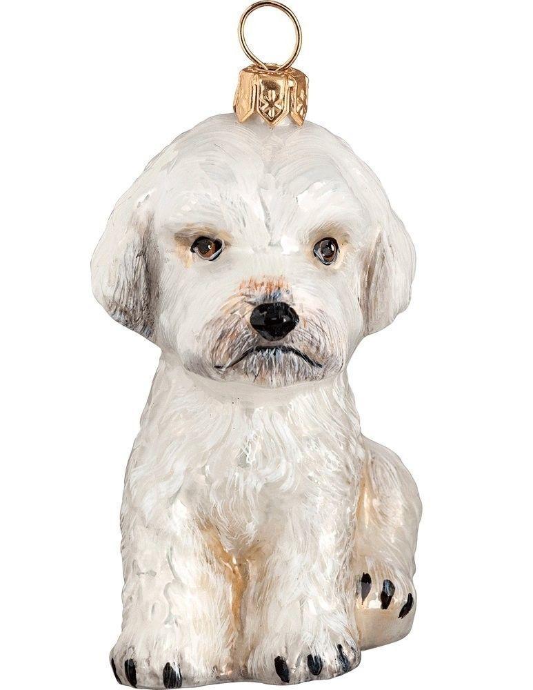 Maltipoo Dog - The Pet Set Blown Glass European Christmas Ornaments by Joy to the World www.aloveofdogs.com