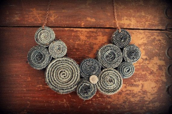 Recycled Jeans Necklace