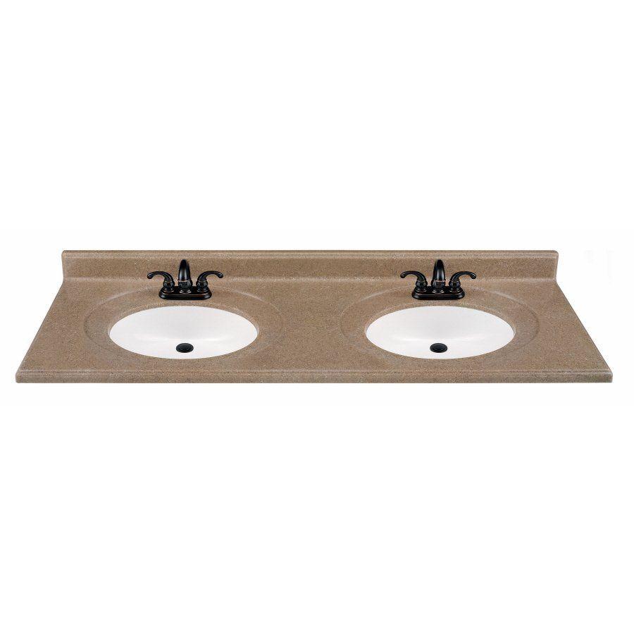 ESTATE By RSI HPDKONS In W X In D StoneTek Kona Vanity - Lowe's canada bathroom vanities for bathroom decor ideas