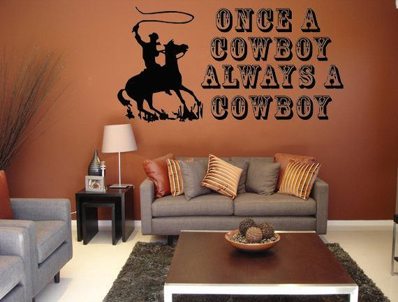 Cowboy Wall Decal Western Decal Sticker Horse Wall Decal | Horse wall decals Wall decals and Cowboys & Cowboy Wall Decal Western Decal Sticker Horse Wall Decal | Horse ...
