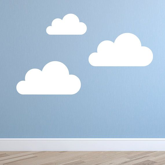 Set Of Super Size Clouds Wall Decal Nursery Wall Decal - Nursery wall decals clouds