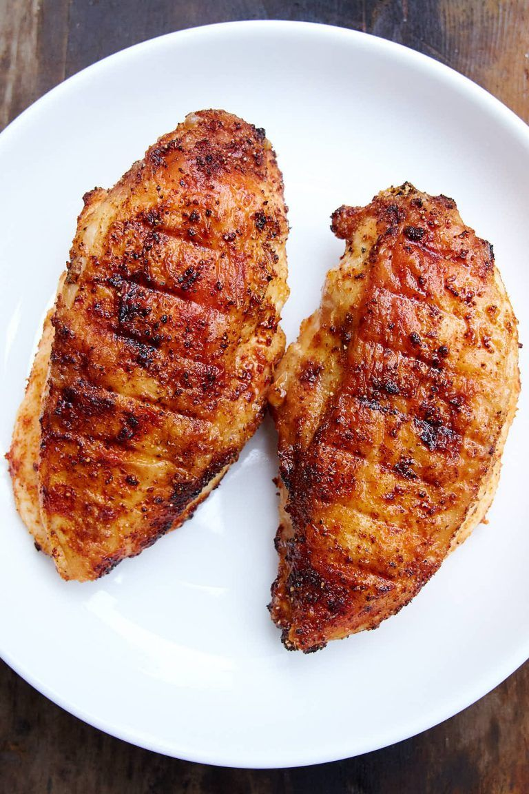 This air fryer chicken breast is crispy on the outside and