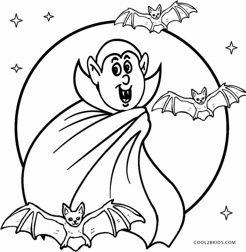 Printable Vampire Coloring Pages For Kids Cool2bkids Halloween Coloring Pages Unicorn Coloring Pages Halloween Coloring Sheets