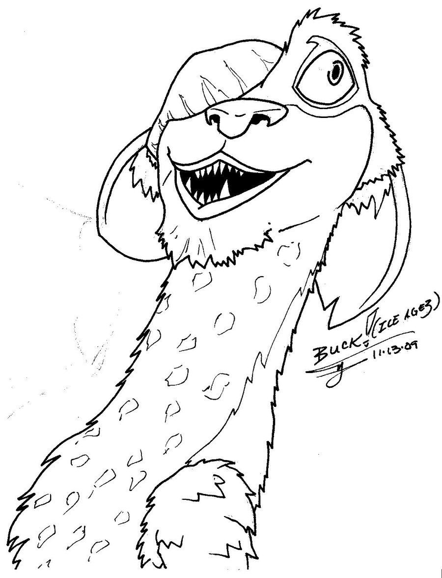 Picture coloring page with ice age | Coloring For Kids | Pinterest ...