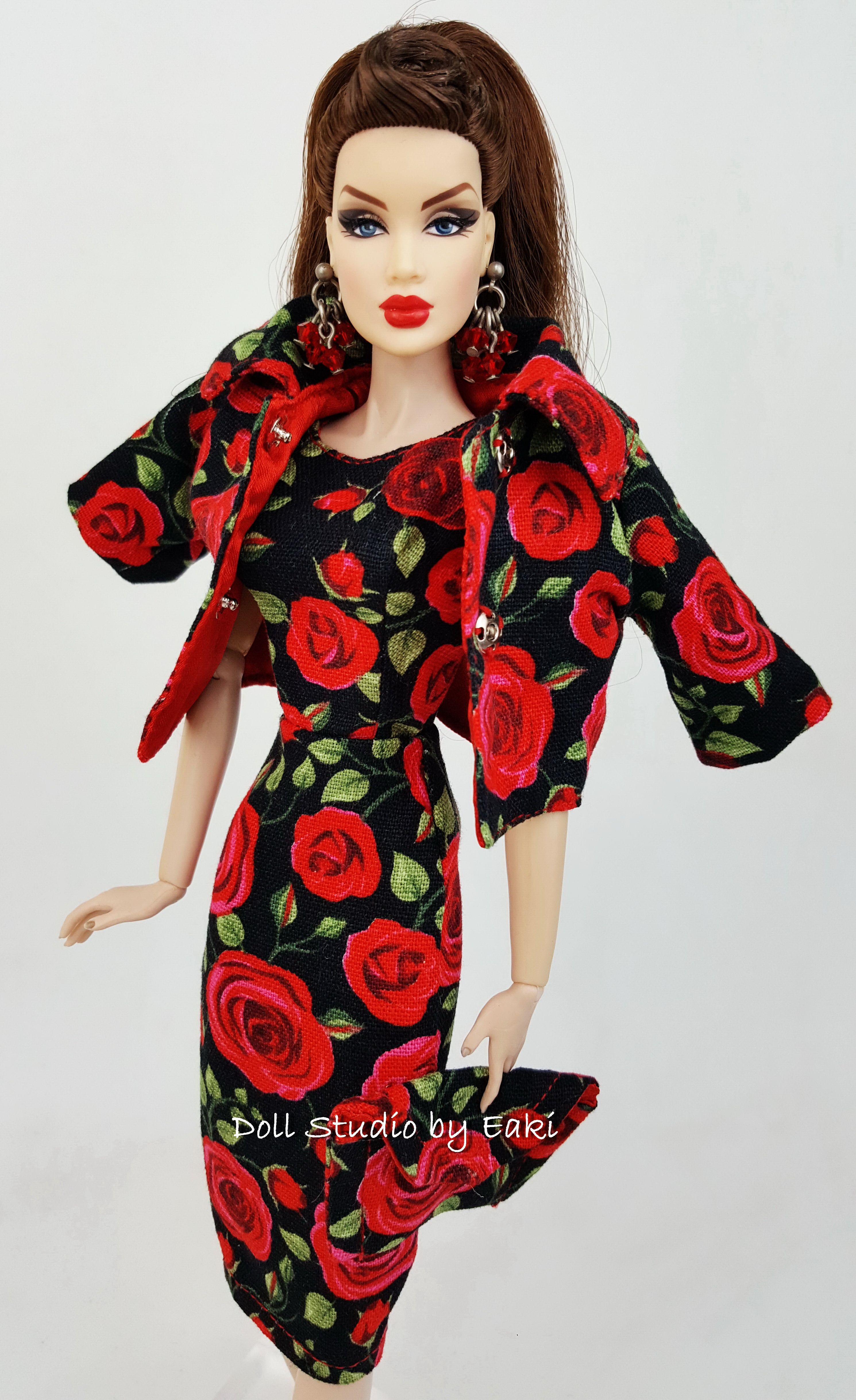 Pink Dress Coat Outfit For Silkstone Barbie Fashion Royalty Integrity Toys FR