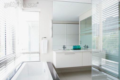 Bathroom Renovations White Vanity Works Too Off The Ground Creates Lightness Nice Mirror Illusion