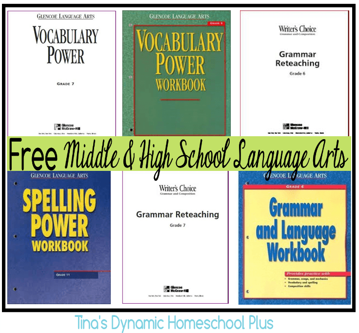 Free middle and high school homeschool language arts language arts free middle and high school homeschool language arts fandeluxe Choice Image