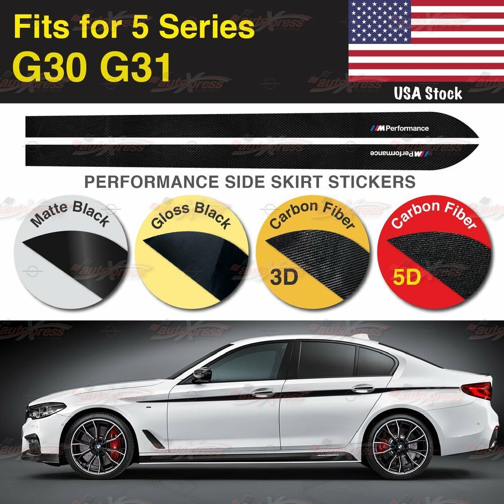 M Performance Side Skirt Sill Vinyl Decal Stickers For Bmw G30 G31 5 Series Us Unbrandedgeneric Bmw Vinyl Decal Stickers Vinyl Decals