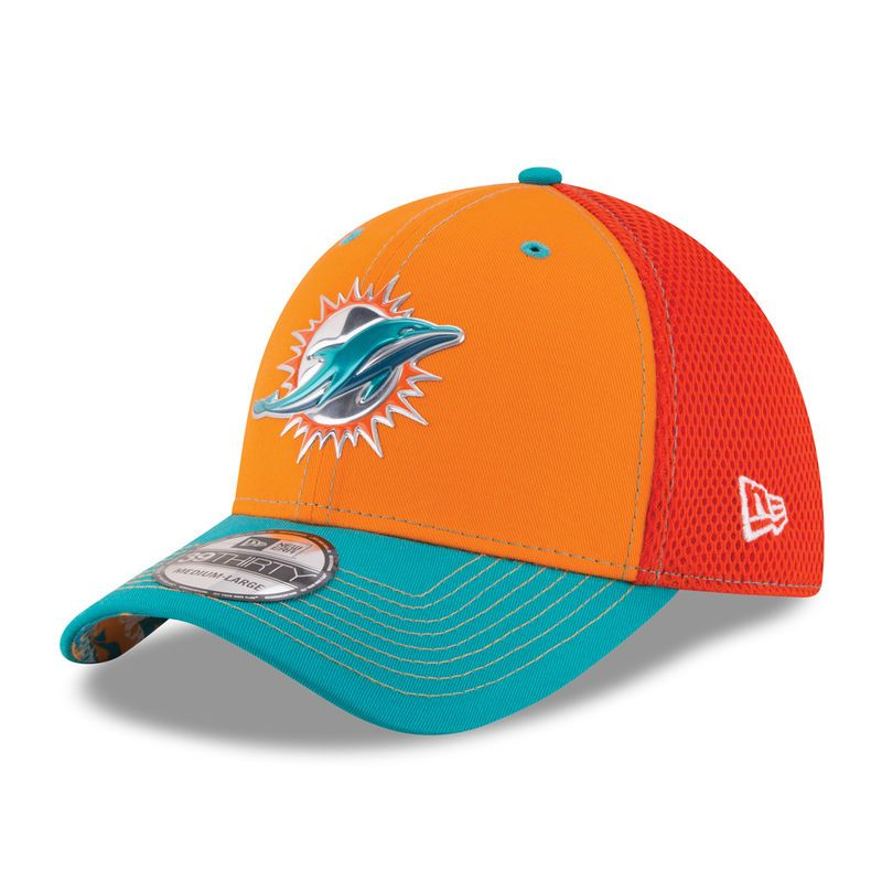 official photos 9e2ed 2fdee ... promo code for new era miami dolphins orange nfl kickoff neo 39thirty  flex hat a797d 2245c