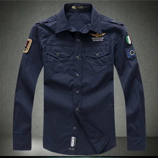 Men/'s Long Sleeve Slim Fit Aeronautica Militare Dress Shirt
