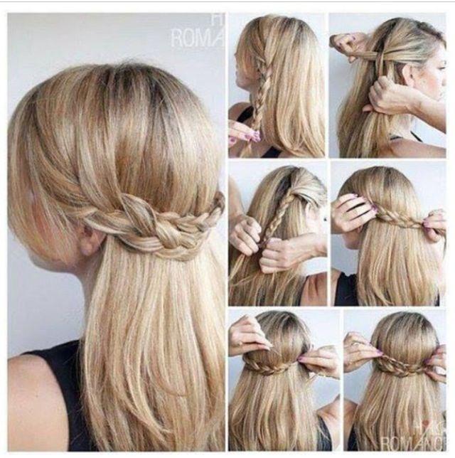 Cute Updos for long hair | Hair tutorial braid, Easy hair ...