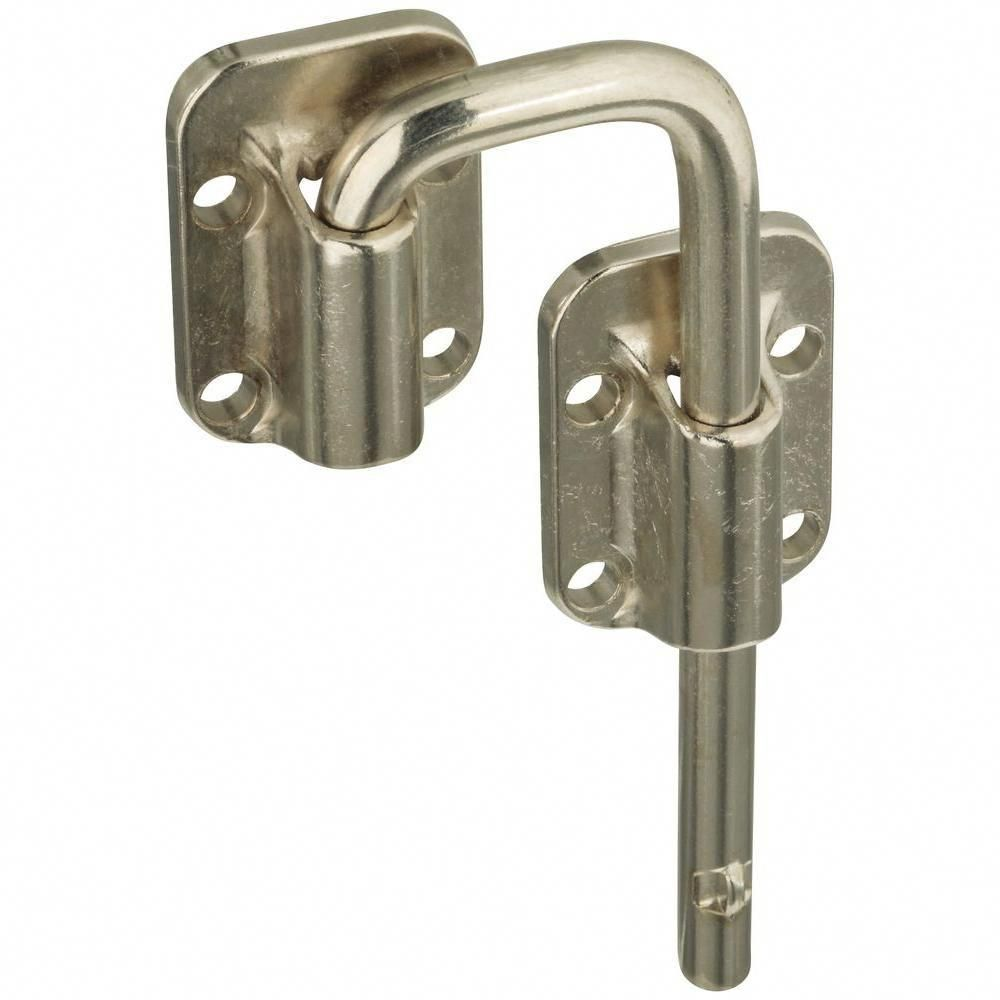 National Hardware 1 1 2 In Sliding Door Latch In Nickel V800 1 1 2 Dr Ltch Nic The Home Depot Barn Door Locks Barn Door Latch Sliding Doors