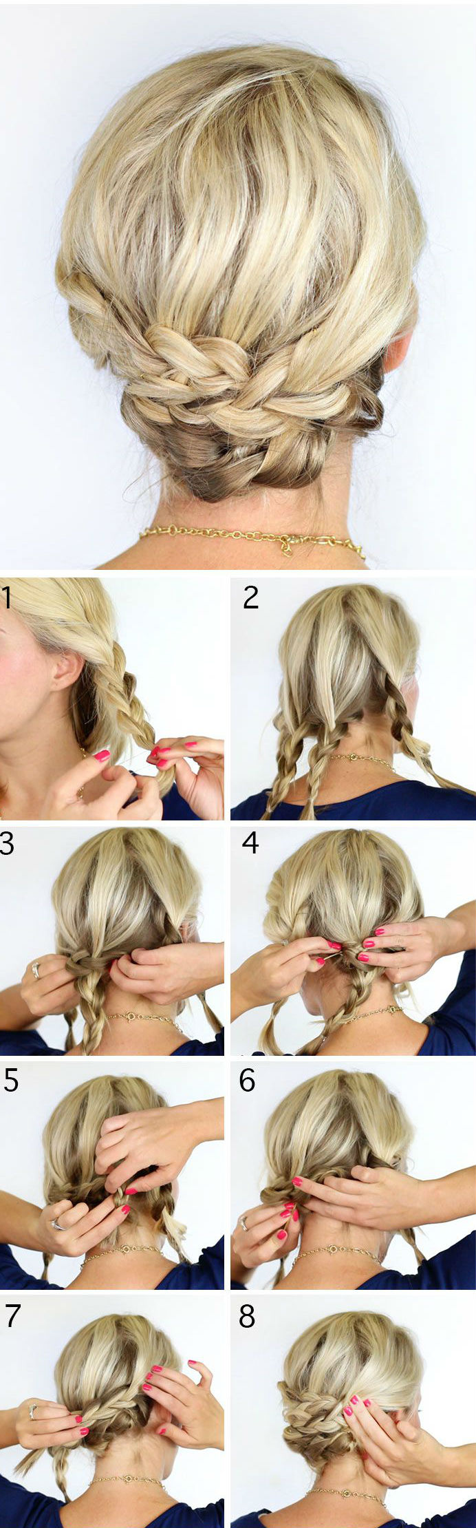 Braided Updo For Short Hair BEAUTY Hair, Makeup, Nails