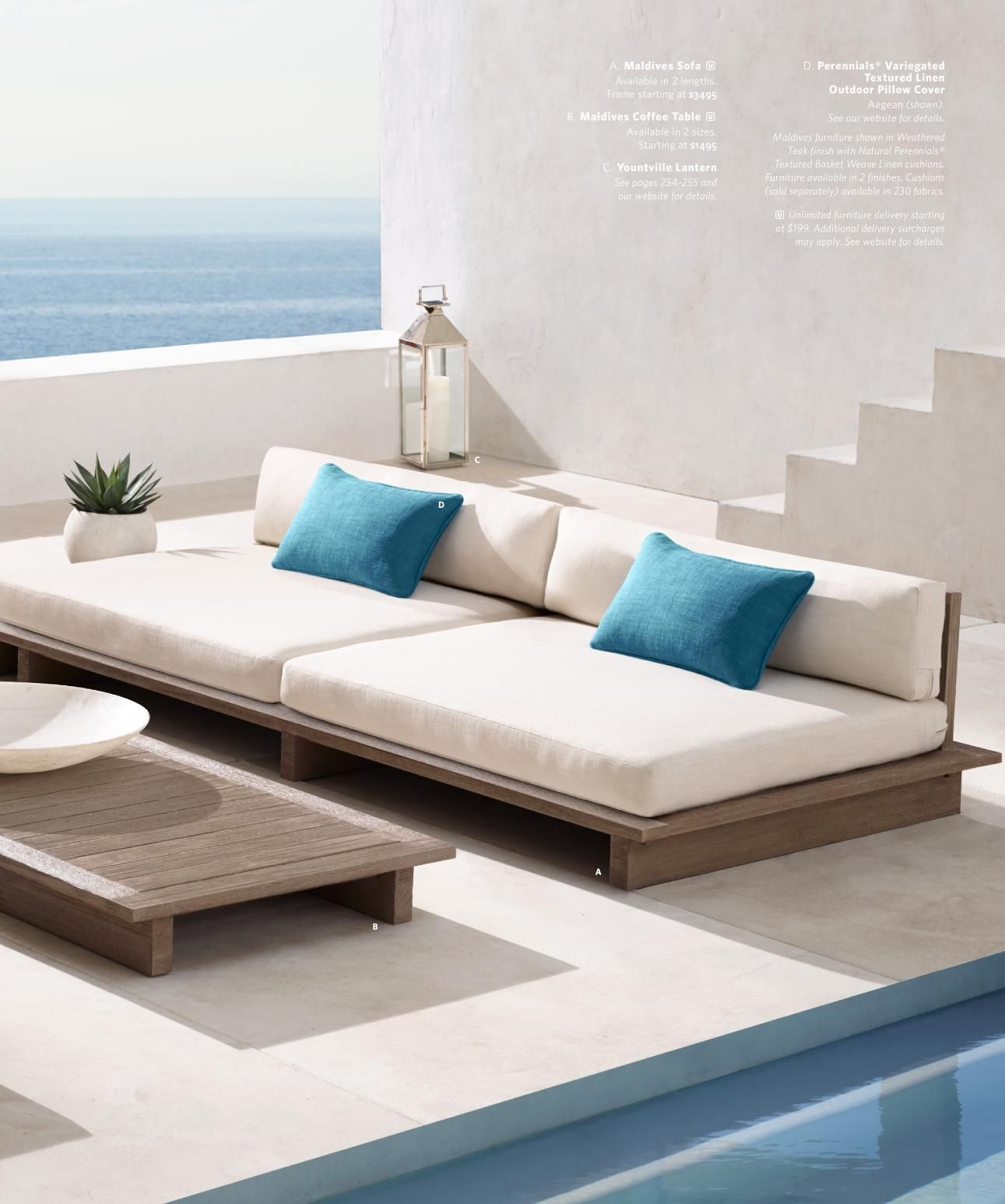 Rh Source Books Restoration Hardware Outdoor Sofa Furniture