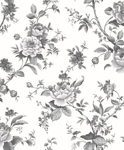 Vita Wallpapers: Tapet Area Blomster - Vita Tapeter - Rusta