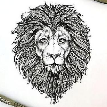 249f0391f8719 Beautiful Lion Head Tattoo Design Lion Tattoo Design, Tattoo Designs, Love  Drawings, Animal