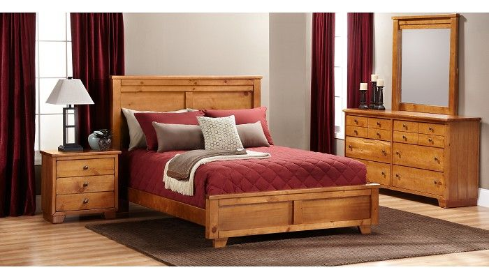 Slumberland Furniture Diego Collection Qn Auburn 4 Pc