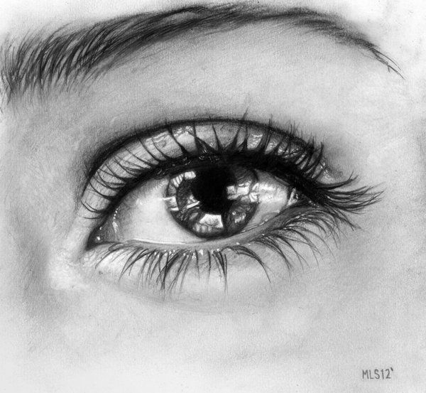 Eye Drawing In Pencil