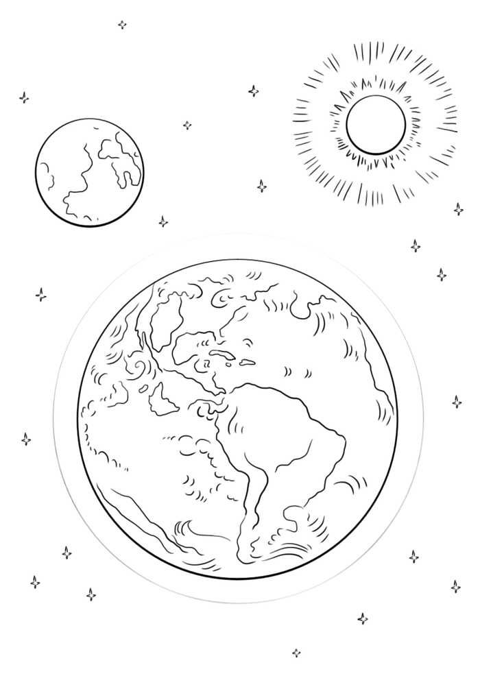 Eclipse Coloring Pages Solar And Lunar Earth Coloring Pages