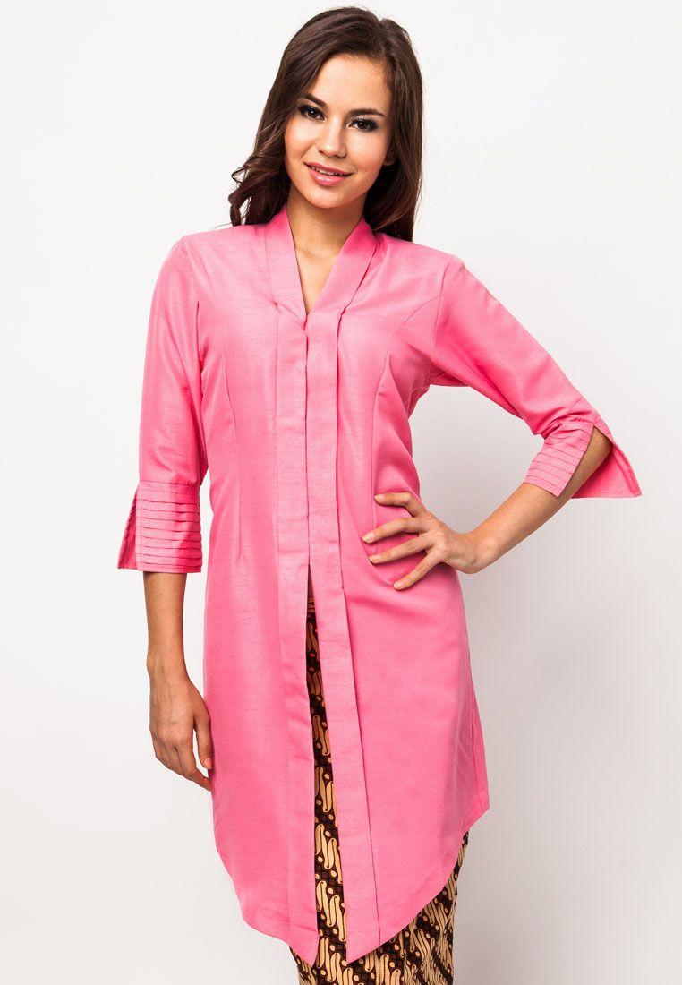 Poya - Kebaya Tok Pink | ZALORA Malaysia | kebaya | Pinterest