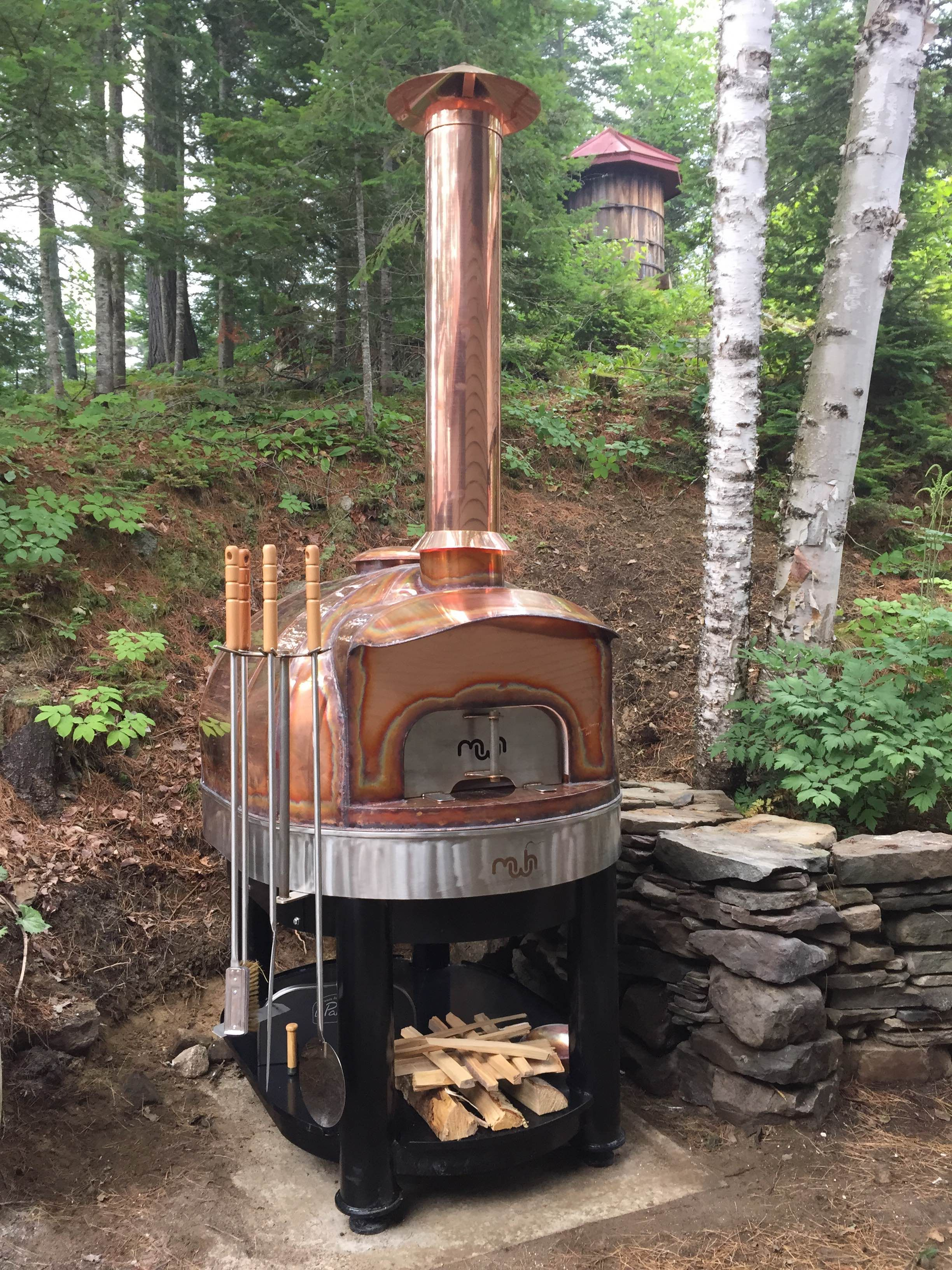 Residential Wood Fired Oven Copper Turnkey Model 99 Pizza Oven Bread Baking Maine Wood Heat Company Mwh Pizza Oven Outdoor Pizza Oven Outdoor Oven