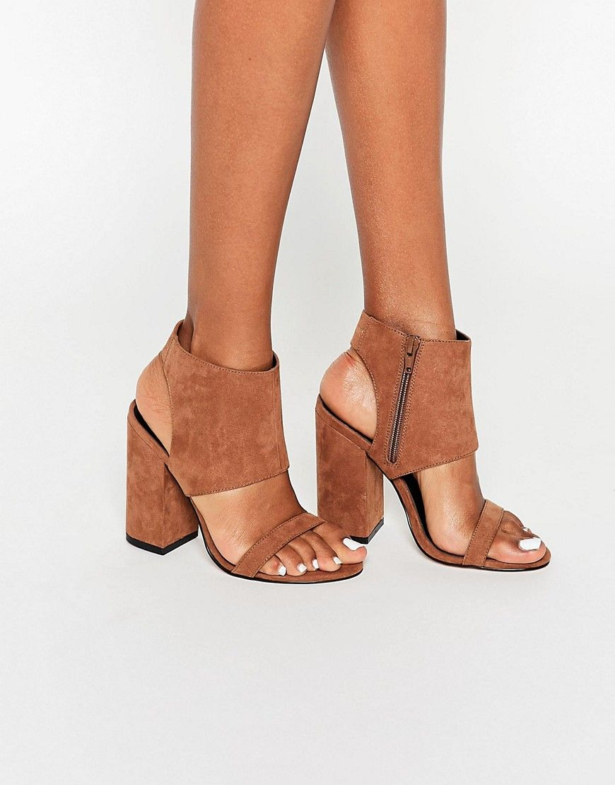 867d377a93 ASOS HALFWAY Heeled Sandals | look down at 'em | Shoes, Shoe boots ...