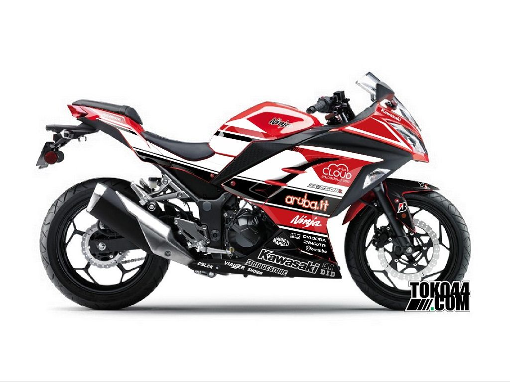 Decal Sticker Ninja 250 Fi Merah Stiker Modifikasi